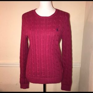 Ralph Lauren Women's Cable Knit Thick Sweater M